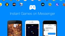 Facebook Messengerアプリ、「パックマン」や「アルカノイド」などが遊べるInstant Games機能追加