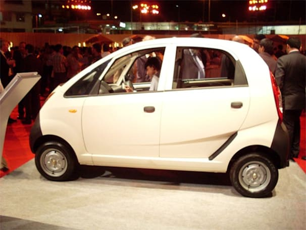 Tata Nano photographed at official unveiling party