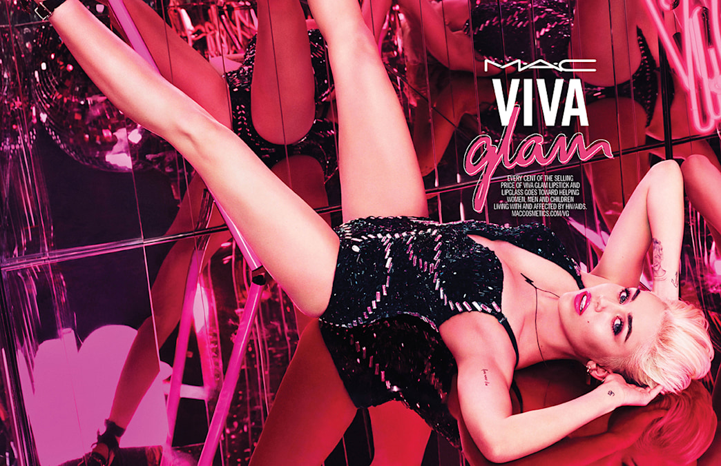 Miley Cyrus is MAC's newest Viva Glam spokesperson