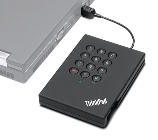 Lenovo's ThinkPad USB Portable Secure hard drive will make you look, feel more important than you are