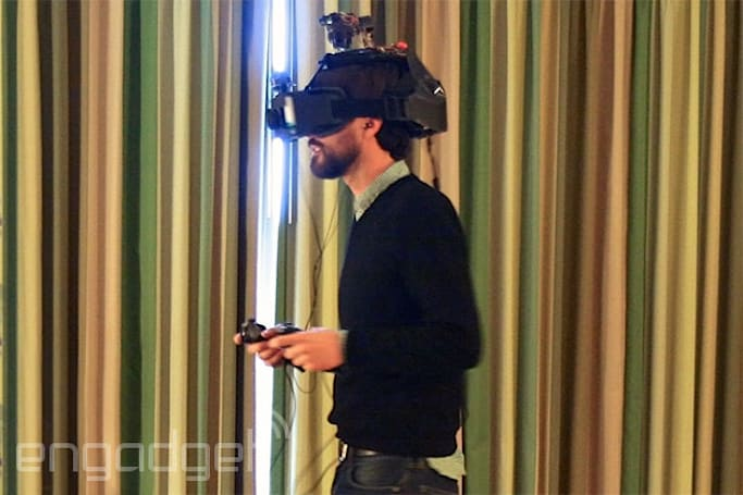 Headset combines virtual and augmented reality with holodeck-like results