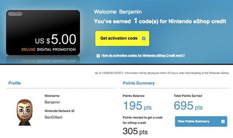 Nintendo Wii U 'Deluxe Digital Promotion' website now live, cash out your free points