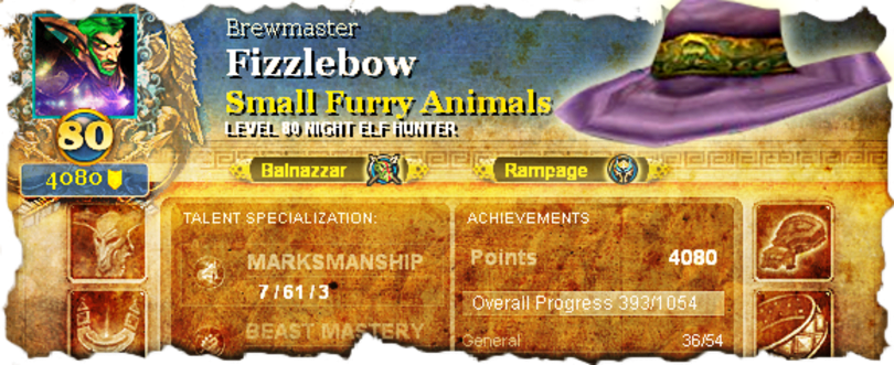 Pimp My Profile: Marksmanship hunter Fizzlebow