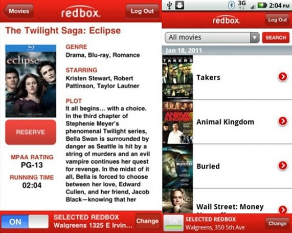 Redbox now has an app for Android, updated app for iPhone