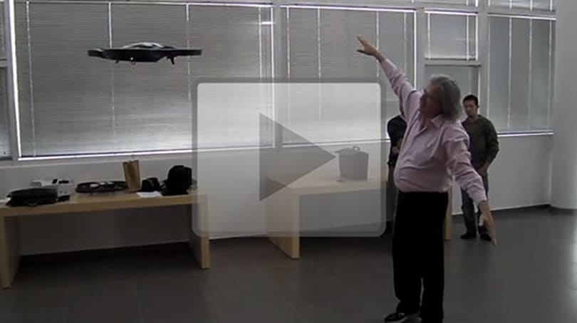 Kinect hack: Controlling an AR Drone