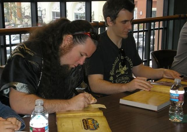 Samwise and other artists hold book signing