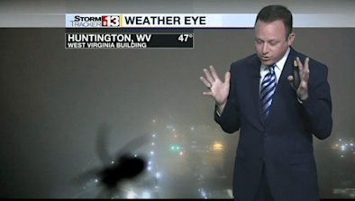 Weatherman Freaks Out Over Spider