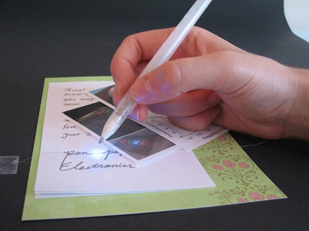 Silver-ink pen freestyles handmade circuitry, paves way for flexible displays