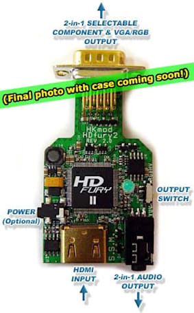 HDfury2 adapter kit tunnels HDCP-laden HDMI content via component  / VGA