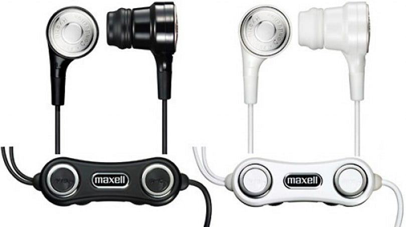 Maxell's Vibrabone HP-VBC40 earbuds can rattle your skull, if you'd like