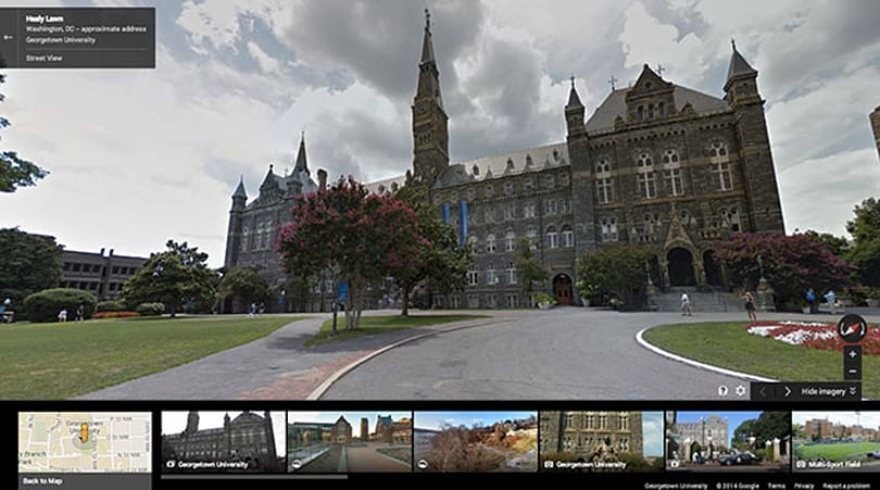 Tour college campuses from the couch with Google Maps Street View