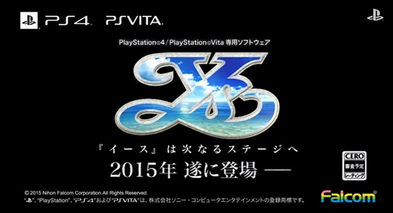 New Ys RPG announced for PS4, Vita