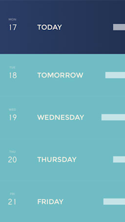 Peek is a very pretty calendar for iPhone