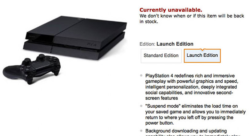 Amazon splits PS4 pre-orders into 'Launch' and 'Standard' editions, Launch is already sold out