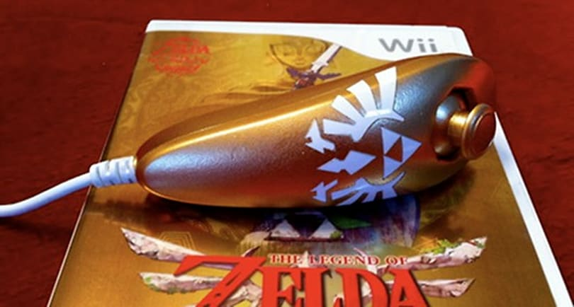 Homemade golden Nunchuk is a real treasure