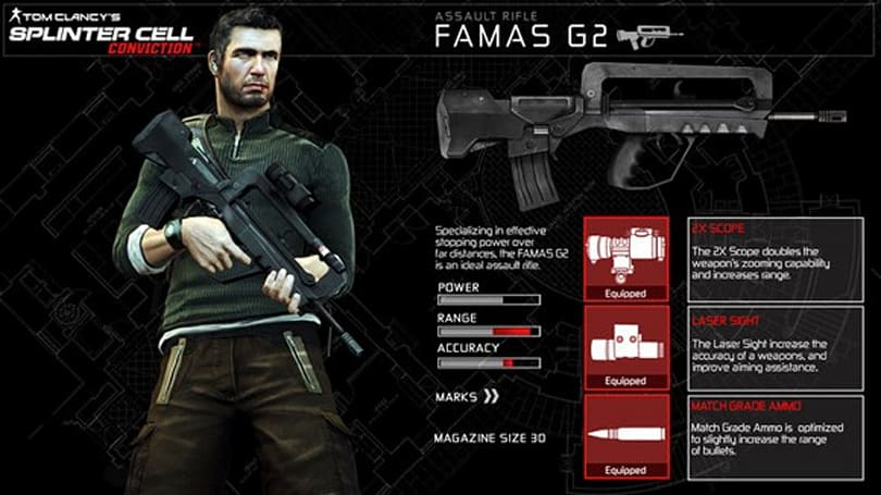 This week's free Splinter Cell DLC is the FAMAS G2