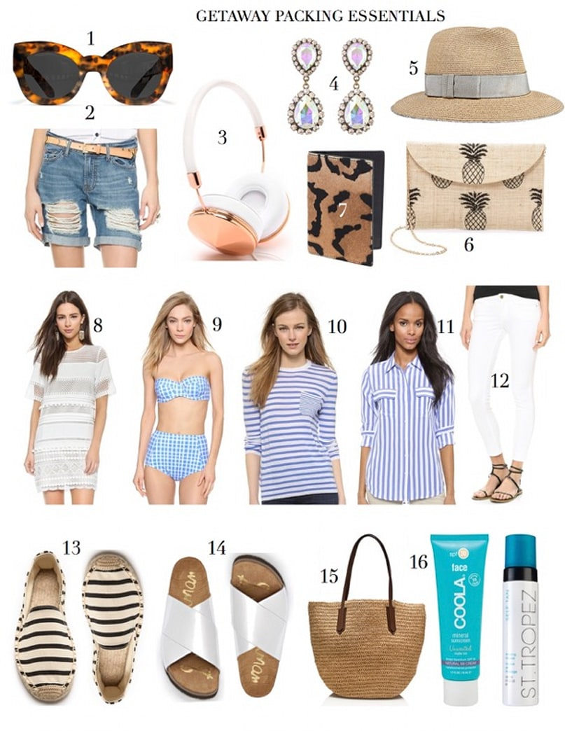 What to pack for your warm weather getaway