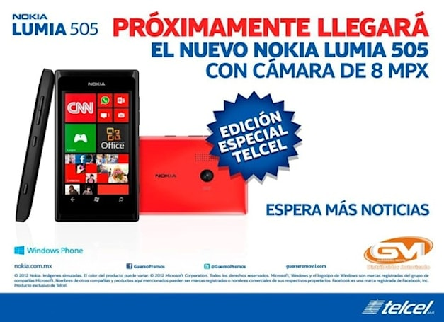 Low-end Nokia Lumia 505 gets outed, coming as an exclusive to Mexico