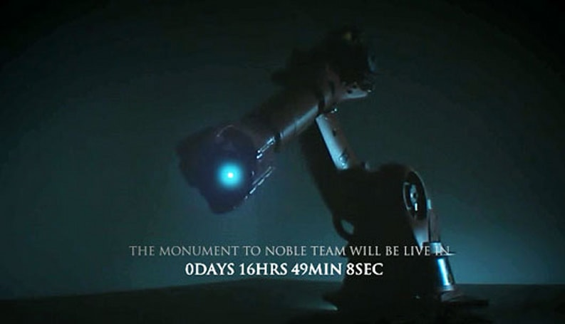 Halo: Reach marketing campaign flexes giant robo-arm