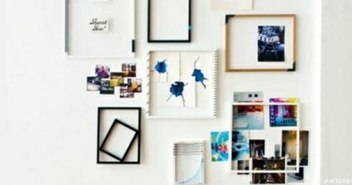 Decorar con cuadros 33 ideas para enmarcar fotos Cosas de decoracion para casa baratas