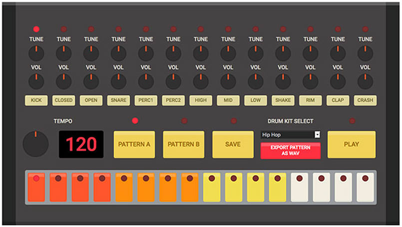 Hone your drum machine skills with an HTML5 808
