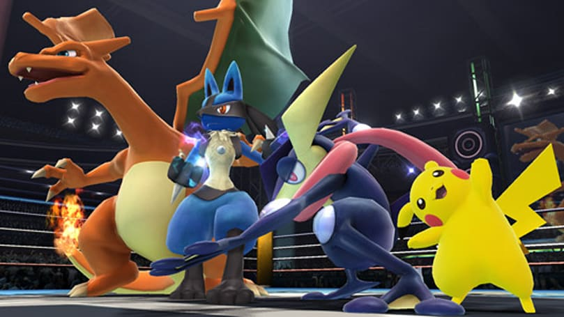Greninja, Charizard fight it out in new Super Smash Bros. screens