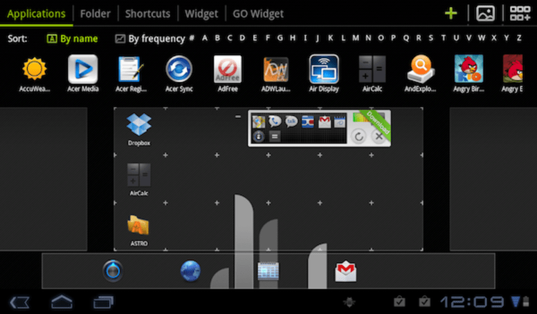 GO Launcher comes to Android tabs, frees you from fixed grid tyranny