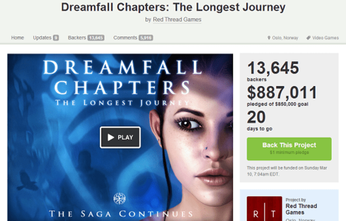 Dreamfall Chapters: The Longest Journey hits Kickstarter goal ahead of schedule