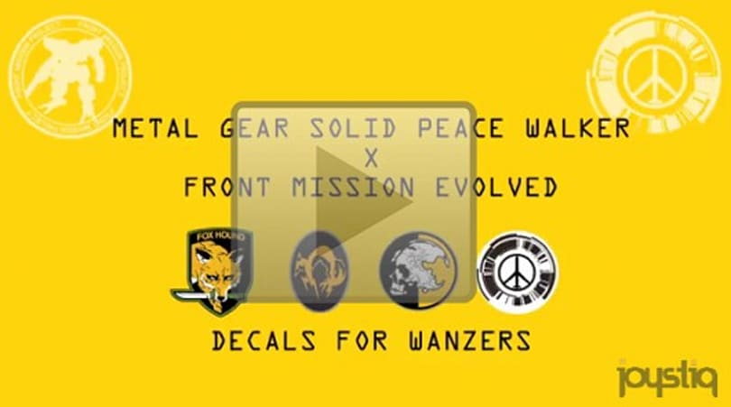 Decorate your Front Mission Evolved robot with logos from ... Metal Gear?!