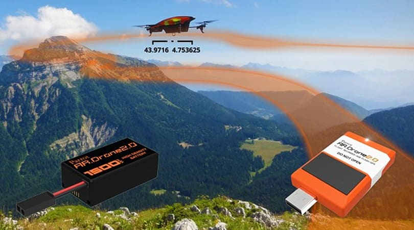 Parrot's AR.Drone 2.0 gifted with optional flight recorder module and bigger battery