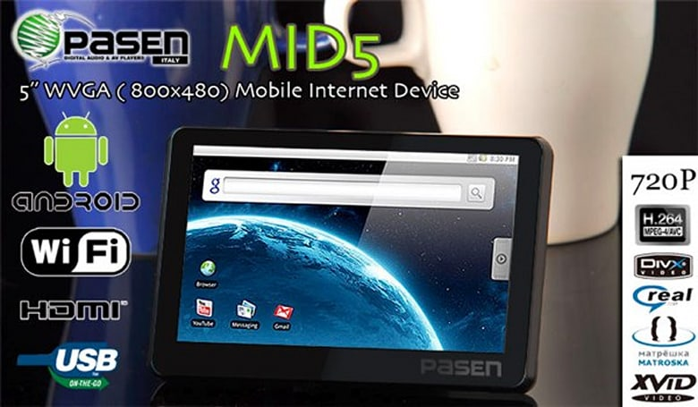 Pasen MID5 packs Android, cures insomnia