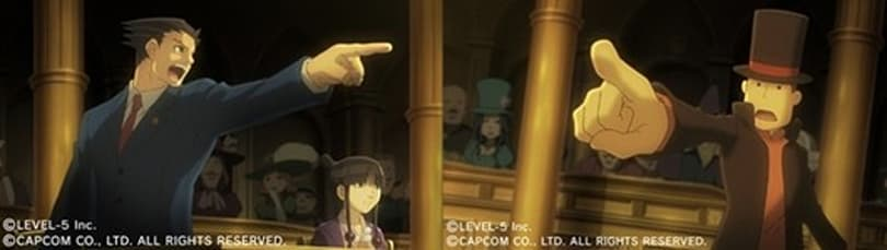 Professor Layton meets Phoenix Wright in crossover 3DS game