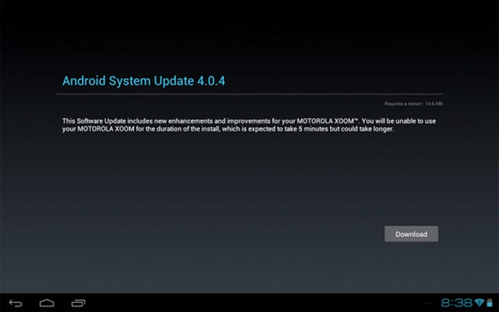 Motorola Xoom WiFi now seeing Android 4.0.4 update over-the-air