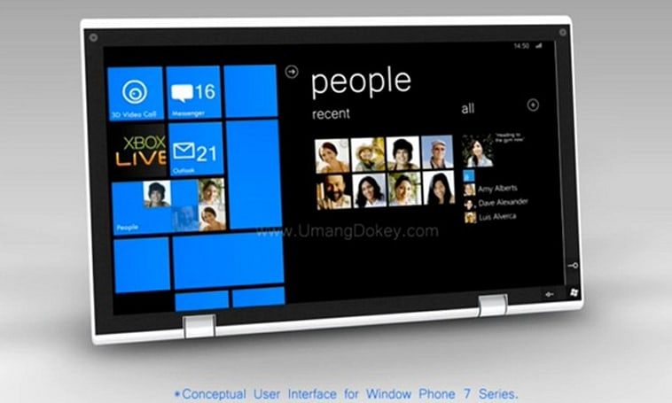 Windows Phone 7 tablet concept is just a big iPhone (video)