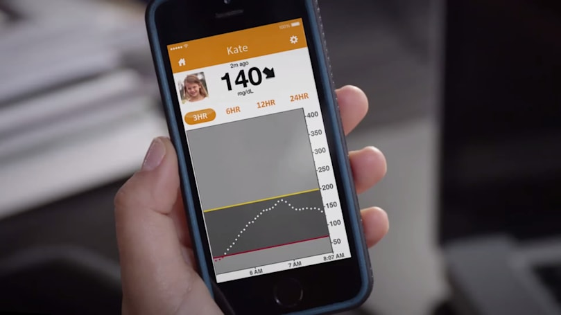 The Dexcom G5 lets diabetics track blood sugar on their phone