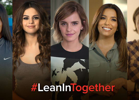 Celebrities team up to #LeanInTogether