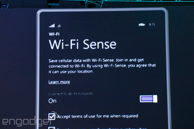 Wi-Fi Sense in Windows Phone 8.1