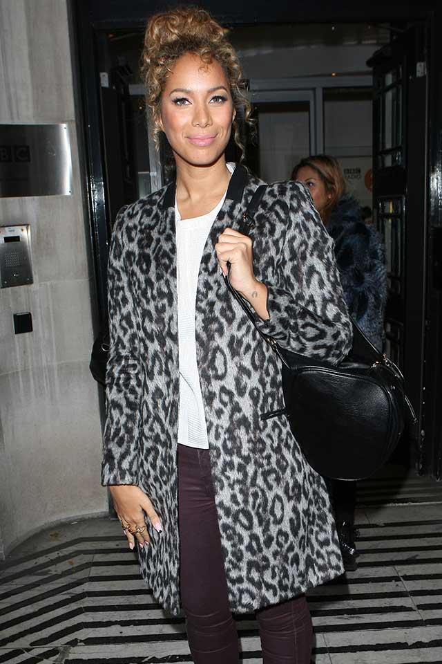 Black and white leopard print coats