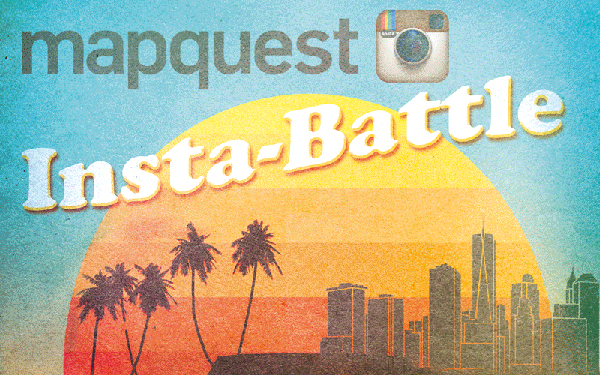 MapQuest Instabattle NYC Miami