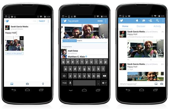 Twitter te deja ahora etiquetar a tus amigos y subir varias fotos en cada tuit