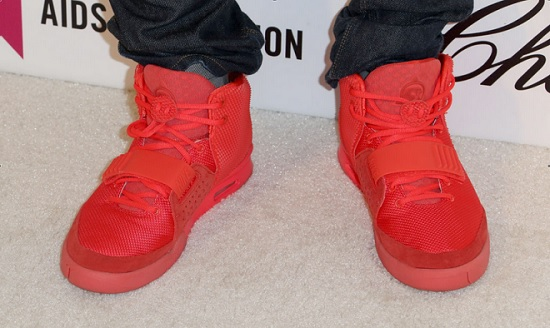 Ed Sheeran's red shoes