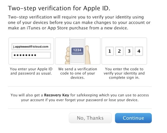 Apple brings two-step verification for Apple ID to more countries