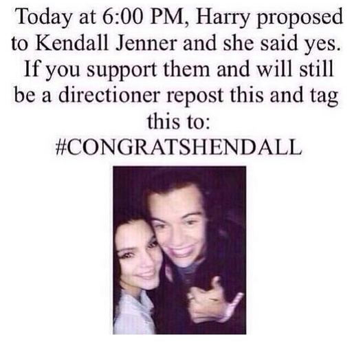 Harry Styles Kendall Jenner engaged congratshendall
