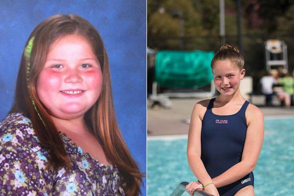 Breanna Bond training for the junior Olympics
