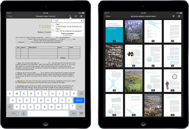 Box for iOS on an iPad