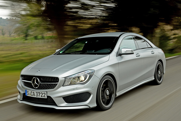 2014 Mercedes-Benz CLA250 Sport, front three-quarter view