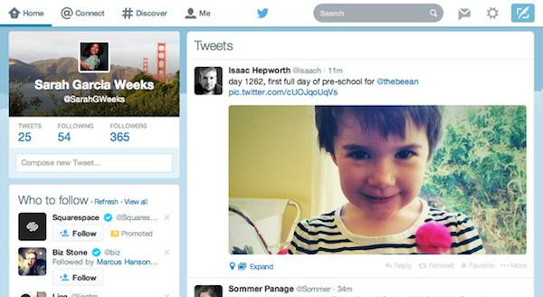 Twitter actualiza la interfaz web para parecerse más a las aplicaciones de iOS y Android