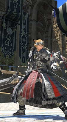 I suspect this is the new tomestone gear rather than the new Allagan gear.  I hope so, anyway; I'd rather like it.