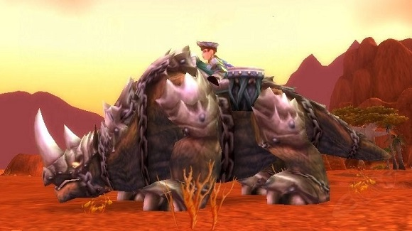 A gnome on a kodo mount