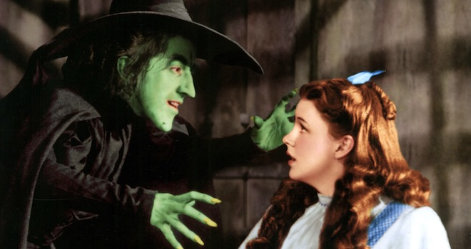 THE WIZARD OF OZ, Margaret Hamilton, Judy Garland, 1939